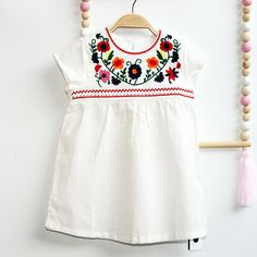 2017 Summer Chinese Style Kids Princess Dress Children Floral Clothing Short Sleeves Casual pattern Design for Girls Clothes M12