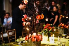 centerpiece with candles