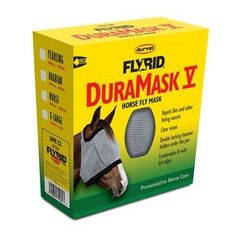 Fly Rid DuraMask V for Horses, Choose a size: HORSE [900 lbs. - 1200 lbs.] by Durvet. $15.86. Extra reinforcement for durability. Rub free design with all edges trimmed in fleece. Superior eye dart stitching for enhanced safety. Decreased attraction of debris with fleece trim. Excellent quality at an incredible value. The FlyRid DuraMask V Horse Fly Mask repels flies and other biting insects from your horse. Benefits:Rub free design with all edges trimmed in fle...