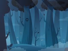 Dribbble  Mystery forest