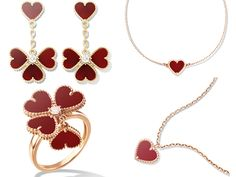 Van Cleef & Arpels' heart shaped jewelry to celebrate Valentine's Day