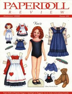 Loved playing with paperdolls! A blast from the past! Doll Clothes Patterns, Doll Patterns, Clothing Patterns, Art Origami, Paper Art, Paper Crafts, Paper Dolls Printable, Raggedy Ann And Andy, Chenille