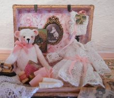 dollhouse miniature trunk for baby