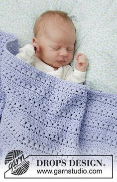 Best 12 Ravelry: Sleepyhead pattern by DROPS design Baby Afghans, Crochet Afghans, Crochet Squares, Crochet Blanket Patterns, Baby Blanket Crochet, Crochet Stitches, Baby Afghan Patterns, Crochet Bebe, Free Crochet