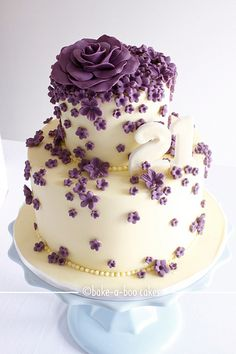 Wedding cake. ** Without the rose and numbers. (Edible sugared flowers instead)