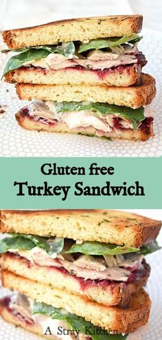 Eating thanksgiving leftovers is always a treat, but now you can enjoy your favorite leftovers in sandwich form. This Thanksgiving Turkey Sandwich uses less than 10 ingredients. Making it simple and fast to whip up. Best Gluten Free Recipes, Fun Easy Recipes, Lunch Recipes, Easy Meals, Sweets Recipes, Turkey Recipes, Gluten Free Thanksgiving, Thanksgiving Turkey, Turkey Sandwiches