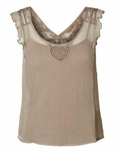 Laced Sleeveless blouse, Moon Rock, main Sleeveless Blouse, Moon Rock, Tank Tops, Lace, Women, Fashion, Moda, Halter Tops, Fashion Styles
