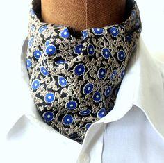 KrawattenschalAscotbeige-blau von pinkmagnolia2303 auf Etsy