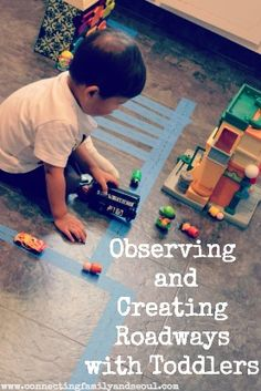 Connecting Family and Seoul: Observing and Creating Roadways with Toddlers ~ a simple activity to help toddlers connect play to real world concepts.