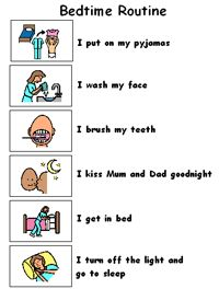 9 Best Preschool Bedtime Routine Images Autism Kids