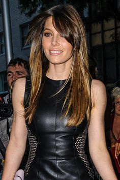 Jessica Biel's side-swept bangs