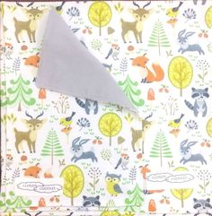 Swaddle Blanket and Large Burping Cloth - Flannelette, Optional bandana bib, dribble bib Dribble Bibs, Bandana Bib, Swaddle Blanket, Woodland Animals, Burp Cloths, Grey And White, Making Out, Little Ones, Stitch
