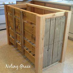 Diy Kitchen Island Pallet diy pallet kitchen island for less than $50   pallet kitchen