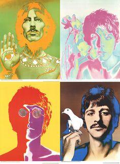 Richard Avedon-The Beatles (Set of 4)-1967 Poster