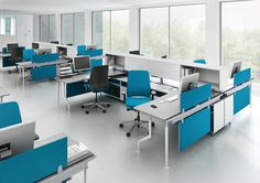C:SCAPE: is a workplace system composed of 4 elements: desk, low storage, mid storage and screens. c:scape's clean and light design is harmonious and innovative. It helps people work together and search for information.