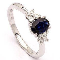 Bestillingsvare - safir ring i 14 karat hvidguld 0,18 ct 0,81 ct