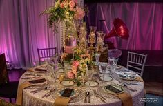 ISES Gatsby Gala. Lighting by Intelligent Lighting Design. Photography by JerryHayesPhotos.com Special thanks to Premiere Select and The Flower Studio.