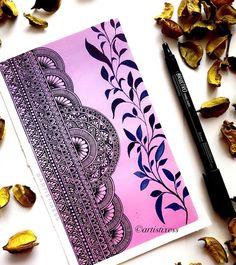 Mandala Art Therapy, Mandala Art Lesson, Mandala Artwork, Mandala Painting, Mandala Drawing, Realistic Flower Drawing, Phad Painting, Mandala Doodle, Doodle Art Designs