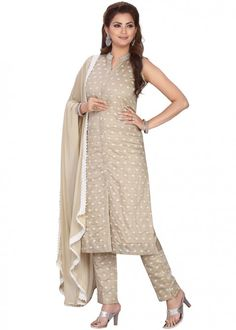 #beige #embroidered #readymade #salwar #kameez #traditional #indian #salwar #suit #indianfashion #party #wear #collection #eid #2021 #ootd Trouser Suits, Trousers, Gown Style Dress, Readymade Salwar Kameez, Chanderi Suits, Plus Size Suits, Beige Top, Beige Color, Dress Making