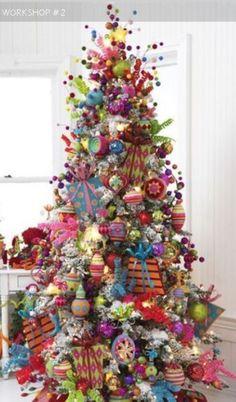 Bright multicolored traditional tree