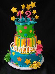 Daisys 13th Birthday Cake