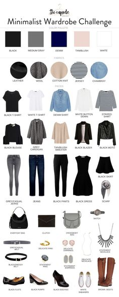 How to Dress Better with the Minimalist Wardrobe Challenge — The Capsule Project How to Dress Better with the Minimalist Wardrobe Challenge — The Capsule Project,Outfits I love Minimalist Capsule Wardrobe – Fall Capsule. Capsule Wardrobe Work, Capsule Outfits, Fashion Capsule, Mode Outfits, Fashion Outfits, Wardrobe Ideas, Wardrobe Closet, Closet Basics, Fall Outfits