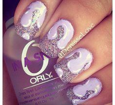 Purple sparkly