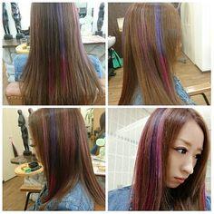 WEBSTA @ chlhlr0522 - ..#美容室 #カラー #ヘアカラー#マニックパニック #パープル #ピンク #グラデーション#Beautysalons #Color #haircolor #ManicPanic #Purple #Pink #gradation