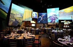 Wedding reception in the Animation Academy room