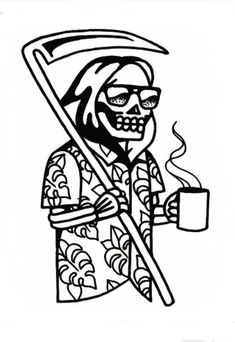 Traditional Tattoo Black And White, Small Traditional Tattoo, American Traditional Tattoos, Traditional Tattoo Reaper, Traditional Tattoo Outline, Traditional Tattoo Stencils, Neo Traditional, Traditional Tattoo Drawings, Pirate Ship Tattoo Traditional