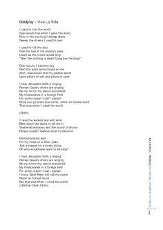 coldplay viva la vida lyrics download