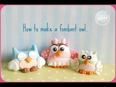 A video on how to make a cute fondant feathered owl. You could also use modelling paste, gum paste, mexican paste, flower paste. Fondant Cake Tutorial, Cake Topper Tutorial, Owl Cake Toppers, Fondant Toppers, Owl Cakes, Cupcake Cakes, Cupcakes, Cake Decorating Techniques, Cake Decorating Tutorials