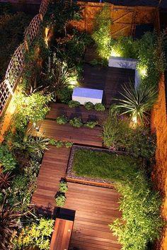 Tarima jardín