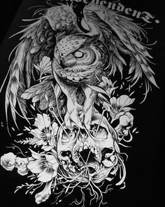 Our Website is the greatest collection of tattoos designs and artists. Find Inspirations for your next Skull Tattoo. Search for more Tattoos. Owl Tattoo Design, Tattoo Designs, Skull Tattoos, Animal Tattoos, Body Art Tattoos, Tattoo Uk, Dark Tattoo, Owl Tattoo Drawings, Tattoo Sketches