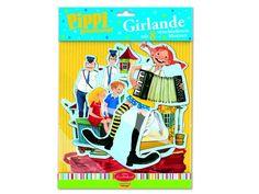 Pippi Langstrumpf Girlande für eine perfekte Pippi Langstrumpf Party (Pippi Longstocking Party)
