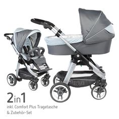 #Teutonia #Kombikinderwagen Cosmo V3 - Luxuriöser und wendiger #Kinderwagen für aktive Eltern inklusive Tragetasche, Sportsitzeinheit und exklusivem Zubehör | Gibt's bei #Babyartikel.de