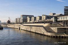 Hochwasserschutz mit Stil // #Hamburg #HamburgerHafen #Hafen #Hochwasserschutz #Seehafen #MeerART / gepinnt von www.MeerART.de
