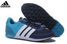 online store e7543 d5718 MensWomens Adidas NEO V Racer TM Apr Running Shoes NavySky Blue