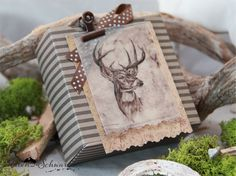 Geschenkverpackung Hirsch