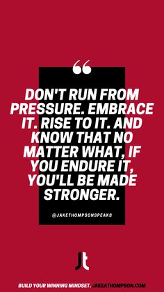 Pressure is a privilege. Embrace it. Use it. Compete with it. Leadership Games, Motivational Quotes, Inspirational Quotes, Silly Questions, Good Employee, To Strive, Keynote Speakers, Growth Mindset, Cool Things To Make