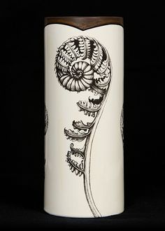 "Love the design on this ""Coiled Wood Fern Vase."""