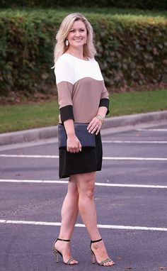 Mixing Black and Brown - dress - ankle sandals - peaches in a pod