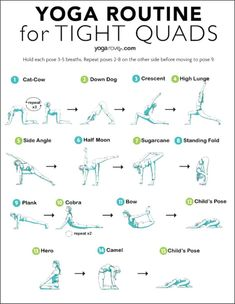 The quads are one of the most neglected areas of the body. Learn how to stretch safely with the 5 best yoga stretches for quads. Pilates Reformer Exercises, Pilates Workout, Workouts, Toning Exercises, Pilates Yoga, Ashtanga Yoga, Vinyasa Yoga, Iyengar Yoga, Yoga Flow