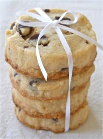 Chocolate Chip Shortbread Cookies - sub in coconut oil for healthy version!