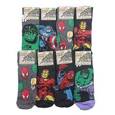 3pairs Marvel Comics Action Hero Design Socks Mens Novelty Fun Spiderman Hulk Captain Marvel Socks Black Louise23 http://www.amazon.co.uk/dp/B00Q2RR3IW/ref=cm_sw_r_pi_dp_INErvb0N51HPQ