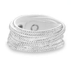 Clear Crystal Hollywood White Wrap Bracelet