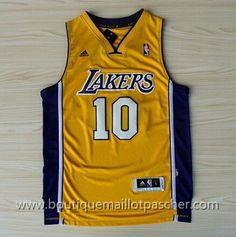 maillot nba pas cher Los Angeles Lakers Nash #10 Jaune nouveaux tissu 22,99€