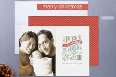Joy to the World Christmas Photo Cards- such a cute idea !