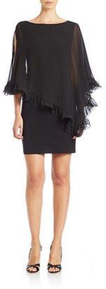 Xscape Ruffled Chiffon Overlay Dress $126.75 thestylecure.com