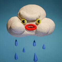 cute mad rain stop motion cloud grumpy claymation rainy rainy day play doh stopmo rain cloud trending #GIF on #Giphy via #IFTTT http://gph.is/2fNgGu3